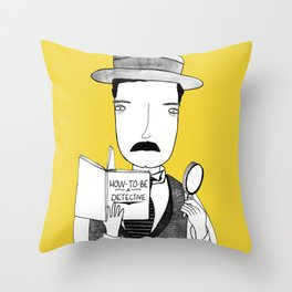 Sherlock Jr. Throw Pillow