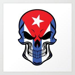 Cuban Flag Skull Art Print