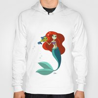the little mermaid Hoodies featuring Little Mermaid by Kaori