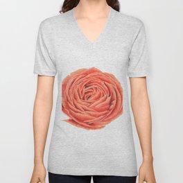 Rose. Big flower Unisex V-Neck