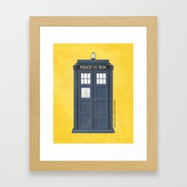 9th Doctor - DOCTOR WHO Framed Art Print