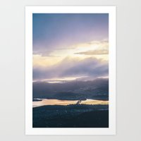 The view from Mt. Wellington Art Print