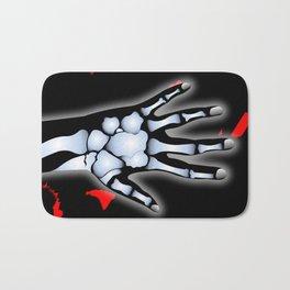 Skeleton Hand Bath Mat