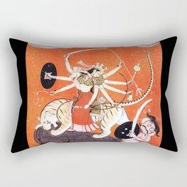 Hindu Durga 4 Rectangular Pillow