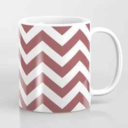 Chevron Zig Zag Pattern: Rustic Red Coffee Mug