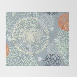 Geodesic by Friztin Throw Blanket