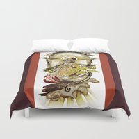 tarot Duvet Covers featuring Sun Tarot by A Hymn To Humanity