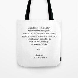 Italo Calvino Quote 01 - Typewriter Quote - Minimal, Modern, Classy, Sophisticated Art Prints Tote Bag