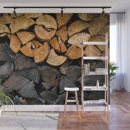 Fire Wood Wall Mural
