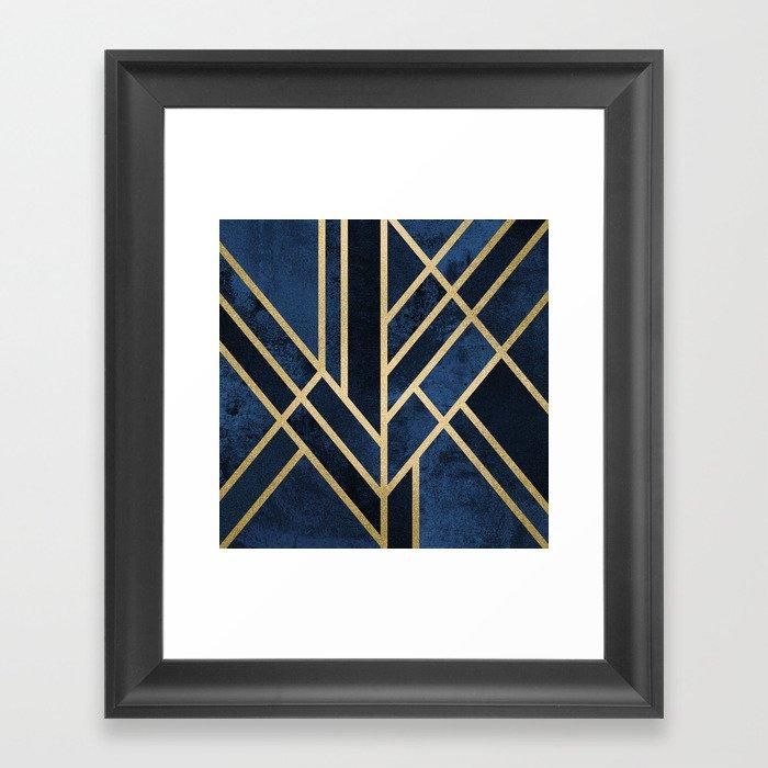 Art Deco Midnight Gerahmter Kunstdruck