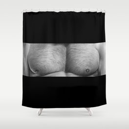 Dirty Black Pillows Shower Curtain