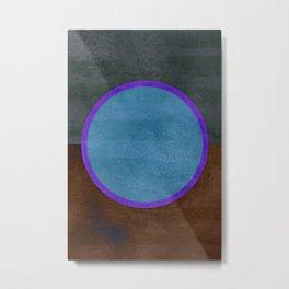 Ice Fishing - Mid century Modern Abstract Metal Print
