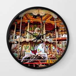Double Decker Carnival Carousel Horse Wall Clock