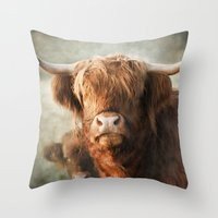 mother Throw Pillows featuring Mother by Pauline Fowler ( Polly470 )