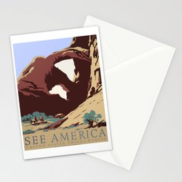 See America National Park Poster Stationery Cards