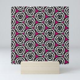 Black and White Rose Mini Art Print
