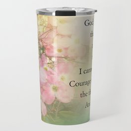 Serenity Prayer Dogwood Glow Travel Mug