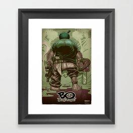 Bo: Plushy Gangsta Framed Art Print