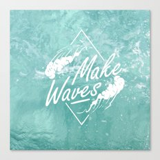 Make waves Canvas Print