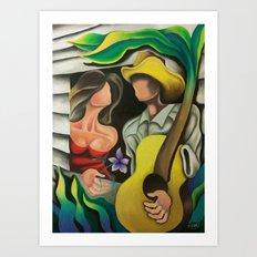 Miguez Cuban Art Serenade at the window Art Print