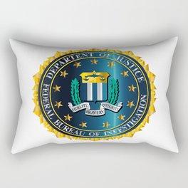 FBI Seal Mockup Rectangular Pillow