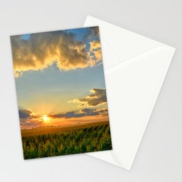 Iowa Corn Fields Stationery Cards