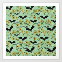 Batty-Buttercup Art Print