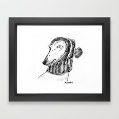 winter greyhound Framed Art Print
