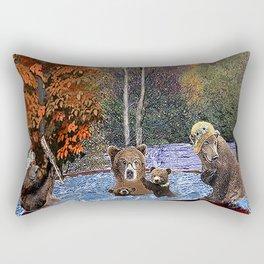 Hot Tub Party Rectangular Pillow
