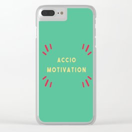 Accio Motivation Clear iPhone Case