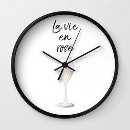 La vie en Rosé Wall Clock