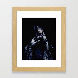 Tendrils - Emotive Self Portrait - long hair woman sensual Framed Art Print