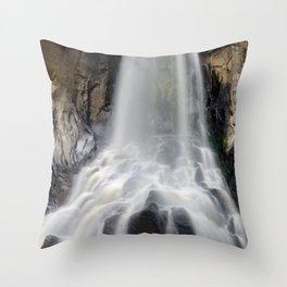 Silky South Clear Creek Falls Throw Pillow