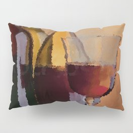 Years, Lovers & Glasses of Wine Pillow Sham