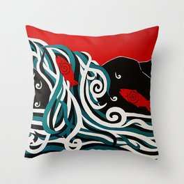 Spawning at Skoags Creek Throw Pillow