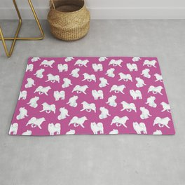 Samoyed Pattern (Berry Background) Rug