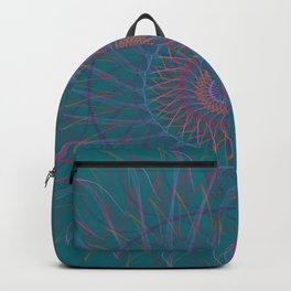 Blue fire mandala Backpack