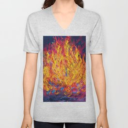 Fire and Passion - Here's to New Beginnings Unisex V-Neck