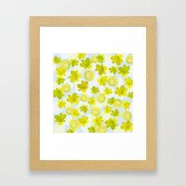 Lime and flowers Framed Art Print