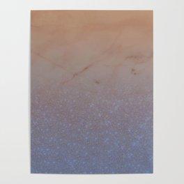 Glitter Marble XVI Poster