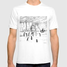Antarctic explorer Mens Fitted Tee White LARGE