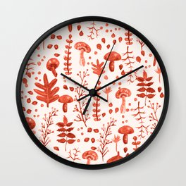 Autumn Reds Wall Clock