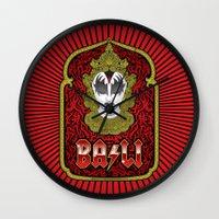 bali Wall Clocks featuring Bali Rocks by Roberlan Borges