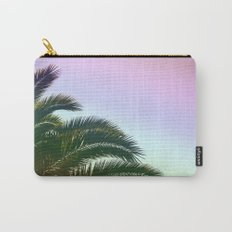 Palm Leaves  - Tropical Sky - Chilling Time Carry-All Pouch