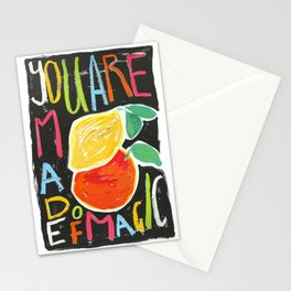 You Are Made of Magic Rainbow Citrus Motivational Poster Stationery Cards