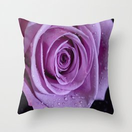 Purple Rose-3 Throw Pillow