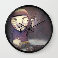 anonymous Wall Clocks featuring anonymous by Emilio Rizzo