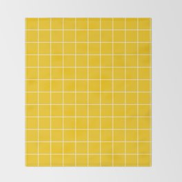 Sunshine Grid Throw Blanket