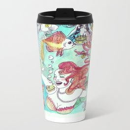 Mermaid Birthday Party Metal Travel Mug