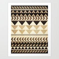 Woodwork Pattern Art Print